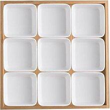 Ramekin Dish Porzellan-Nine-Fach Fach, Obst