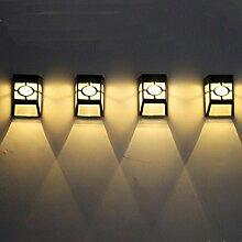 rameng Akkus Solarleuchte LED Wasserdicht 2LED