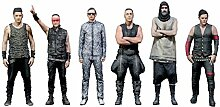 Rammstein 3D Figuren Set Mehrfarbig, Offizielles