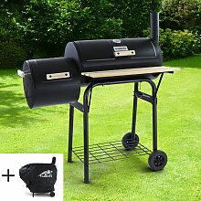 RAMROXX® BBQ XL Smoker Holzkohle Barbecue Grill
