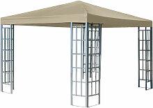 Rank Pavillon 3x3m Beige Metall