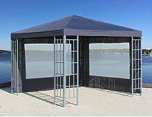 Rank Pavillon Set 3x3m Metall Garten Partyzelt