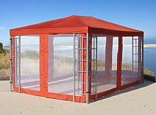 Rank Pavillon Set 3x4m Metall Garten Partyzelt