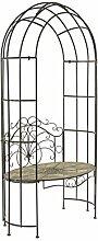 Rankbogen mit Sitzbank - Rankhilfe für Kletterpflanzen - Gartenbank - Metall