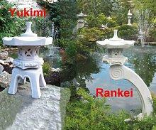 Rankei 80cm + Yukimi S japanische Steinlaternen