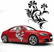 Ranken Motiv Aufkleber mit Blüten Autotattoo