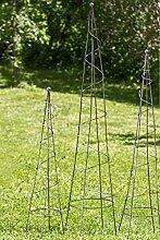 Rankhilfe Zag Gartendeko H 100 -160 cm Eisen grau