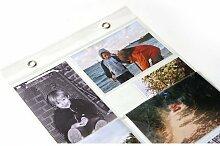 ransparenter Fotovorhang mit 20 Taschen im Format