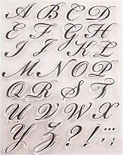 Ranuw Alphabet Brief Silikon Clear Seal Stempel