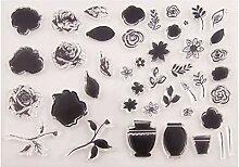 Ranuw Blume Silikon Clear Seal Stempel DIY