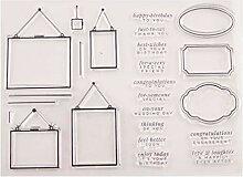 Ranuw Grüße Silikon Clear Seal Stempel DIY