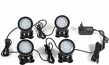 RANZIX 4 x36 LEDs Lighting Gartenteich Lampe