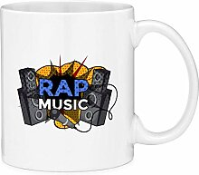 Rap Music Comic Style Coffee Mug Cup Fun Novelty