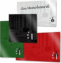 Rapid Teck Memoboard Glas Magnettafel Grün 30cm x