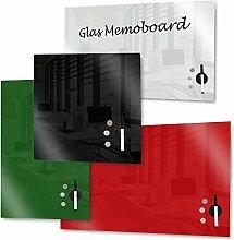 Rapid Teck Memoboard Glas Magnettafel Grün 45cm x