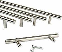 Rapid Teck® Möbelgriff Edelstahl (128mm Bohrloch Abstand) Stangengriffe Möbelgriffe Stangengriff Relinggriff Griff Bogengriff