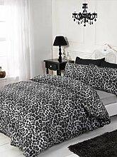 Rapport Leoparden-Bettwäsche-Set, 4-TLG, Mono,