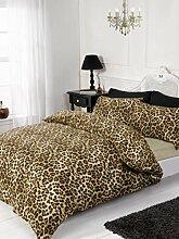 Rapport Leoparden-Bettwäsche-Set, 4-TLG, Natur,