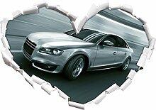 Rasanter Audi Herzform im 3D-Look , Wand- oder