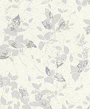Rasch 402537 Vliestapete, lila, weiß, 10,05m x