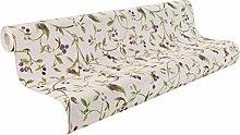 rasch 927023 Vlies-Tapete, Florales Beeren-Motiv, hell-rosa Grund, Doppeltbreit 1, 06 M, maximum Xii 927030, grün, lila