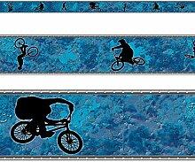 RASCH Borte Bordüre Kinder- und Jugendzimmer 246704 Fahrrad BMX selbstklebend