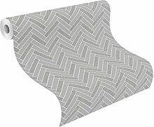 Rasch Chevron Stripe Muster Glitzer Motiv Küche