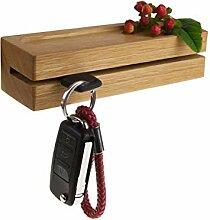 Rasch Design Schlüsselbrett aus Holz mit Ablage |