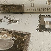 Rasch Motiv Kaffee Cappuccino Mocca Vinyl Tapete