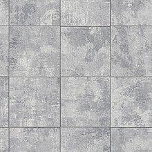 Rasch paperhangings 454413Tapete Wandverkleidung,–Grau (12)