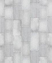 Rasch paperhangings 475814Tapete Wandverkleidung,–Grau (12)