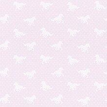 Rasch Pferd-motiv Punkte-muster Mädchen Kinder Abwaschbare Tapete - Rosa 290417RASCH