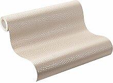Rasch Tapeten 431322 Rasch Vlies-Tapete, Kreise in beige und gold-Metallic mit Glitzer, Home Vision VI, 431316