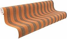 Rasch Tapeten 929430 Vlies-Tapete, textile Struktur, Doppeltbreit 1,06 m, Catania / Orange