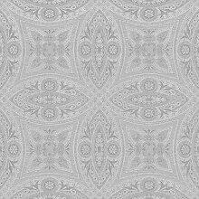 Rasch Tapeten Vliestapete (Classic-Chic) Silber
