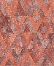 Rasch Tapeten Vliestapete (Grafisch) Rot goldene