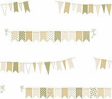 Rasch Textil Kinderzimmer Tapete Wimpel 303207