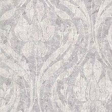 Rasch Textil Vliestapete Onyx Tapete 020033 Barock lila grau