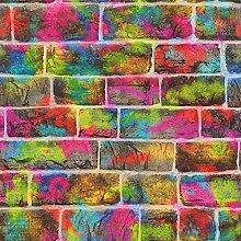 Rasch Ziegel-Graffiti-Tapete–291407