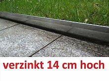 Rasenkante 5m verzinkt Beeteinfassung Beetumrandung Mähkante Metall Palisade neu