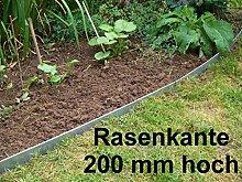 Rasenkante aus Edelstahl, V2A , 200 mm hoch,