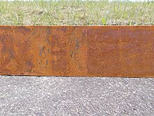 Rasenkante Corten Stahl Edelrost Mähkante Metall