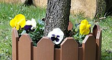 Rasenkanten Beeteinfassung Palisade Beetumrandung Garten Rasen Zierzaun Gartenzaun braun 2,40 m