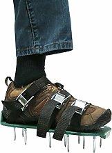Rasenlüfter Schuhe, MroTech Rasenbelüfter Sandalen mit Spikes und Sichere Metallwölbungen 3 Längere Riemen Rasenlüfterschuh Nagel-Schuhe für Haus und Garten (Grün)