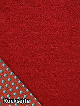 Rasenteppich Kunstrasen Basic+ rot Weich Meterware