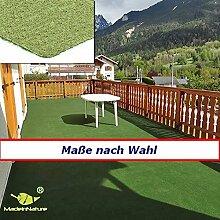 Rasenteppich Kunstrasen, Größe Auswählen | Außen Teppich | Für Garten, Terrasse, Balkon etc… | MadeInNature® (1500 x 200 cm)