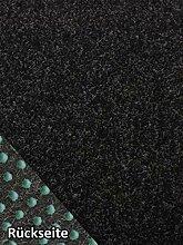 Rasenteppich Kunstrasen Premium schwarz grau Weich
