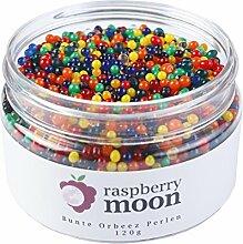 Raspberry Moon Orbeez Perlen (120 gr, Bunt) Wasserperlen Hydroperlen Aquaperlen Aqualinos Gelperlen Wasserkugeln Deko Bewässerung von Pflanzen