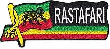 Rastafari Löwe Aufnäher Aufbügler Patch The