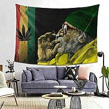 Rastafarian Weed Smoking Old Man Flag Tapisserie